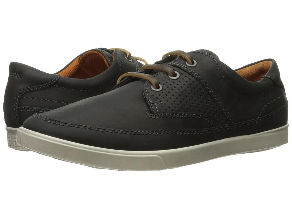 ECCO - Collin Nautical Perf (Black) Men's Shoes