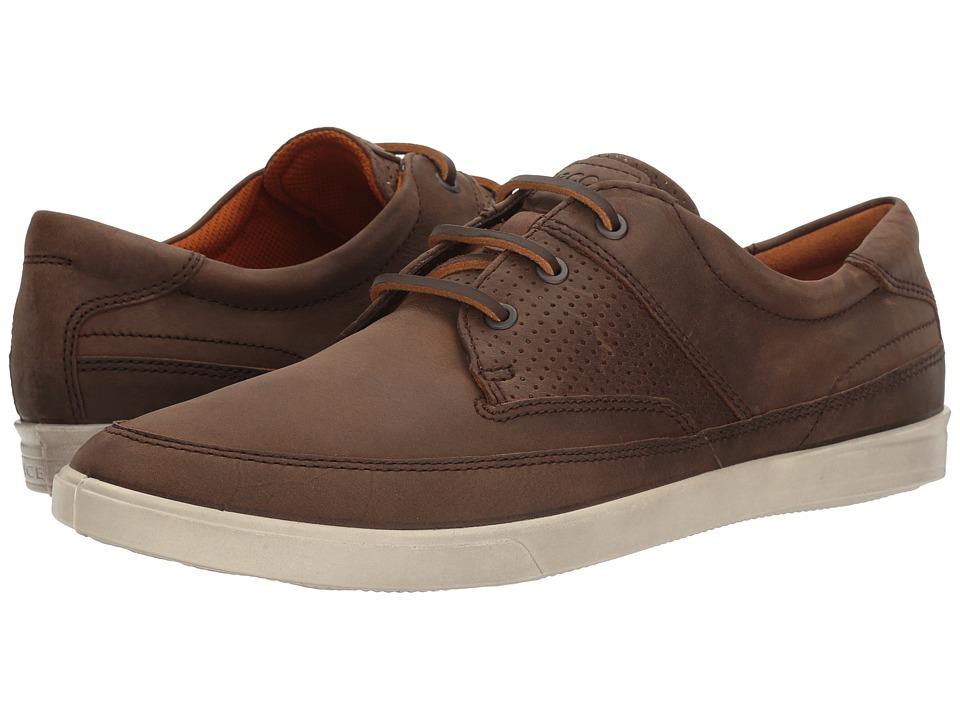 ECCO - Collin Nautical Perf (Cocoa Brown) Men's Shoes