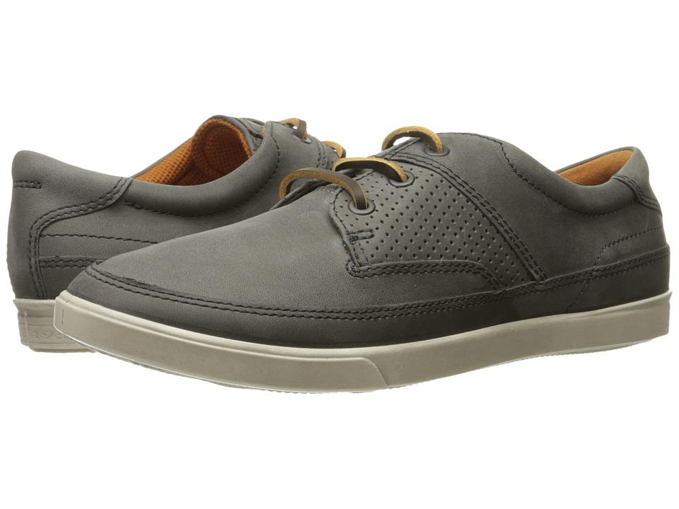 ECCO - Collin Nautical Perf (Titanium) Men's Shoes