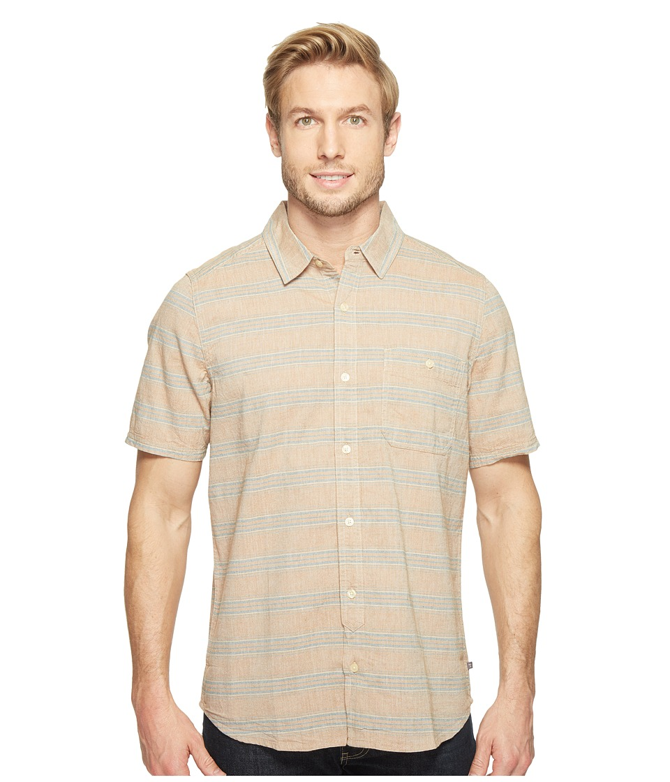 Toad&Co - Hardscape S/S Shirt (Tabac) Men's Short Sleeve Button Up