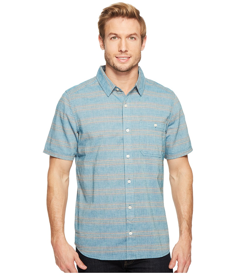 Toad&Co - Hardscape S/S Shirt (Seaport) Men's Short Sleeve Button Up