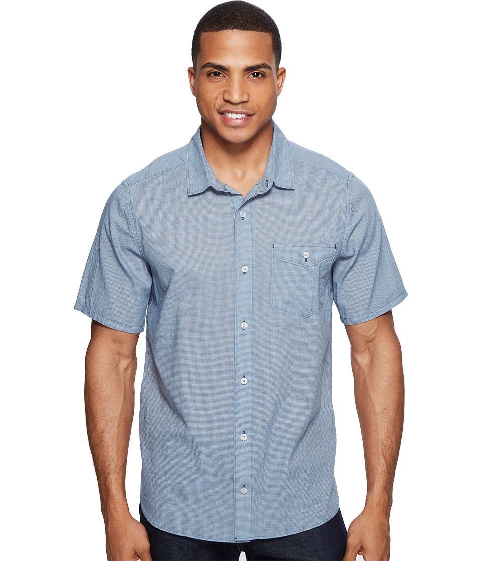 Toad&Co - Airbrush S/S Shirt (Blue Abyss) Men's Short Sleeve Button Up