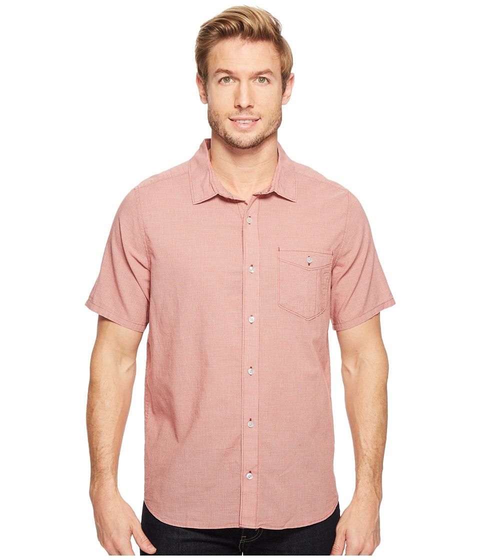 Toad&Co - Airbrush S/S Shirt (Red Clay) Men's Short Sleeve Button Up
