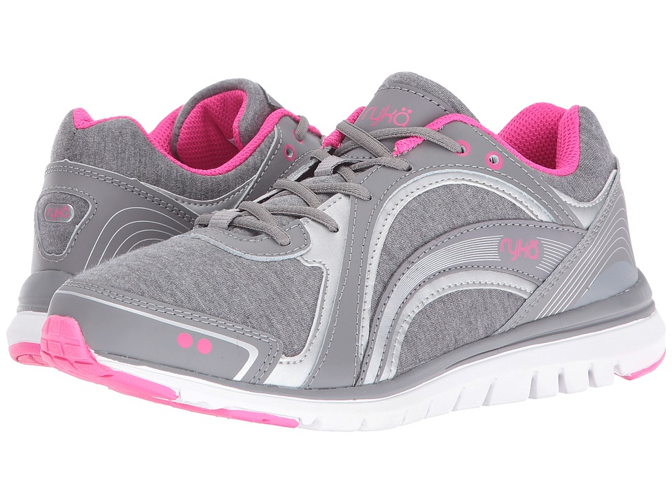Ryka - Aries (Grey/Silver/Pink) Women's Shoes