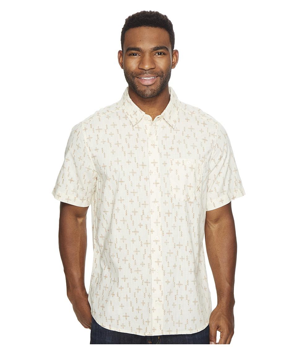Toad&Co - Fletch Print Short Sleeve Shirt (Salt Print) Men's Short Sleeve Button Up