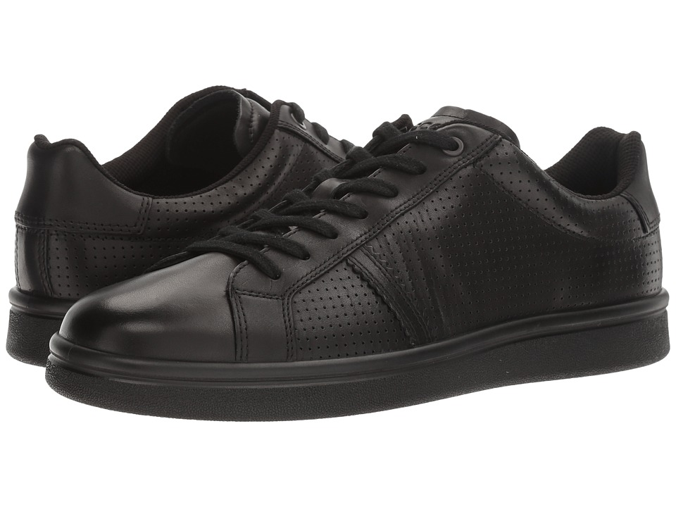 ECCO - Kallum Premium Sneaker (Black) Men's Lace up casual Shoes