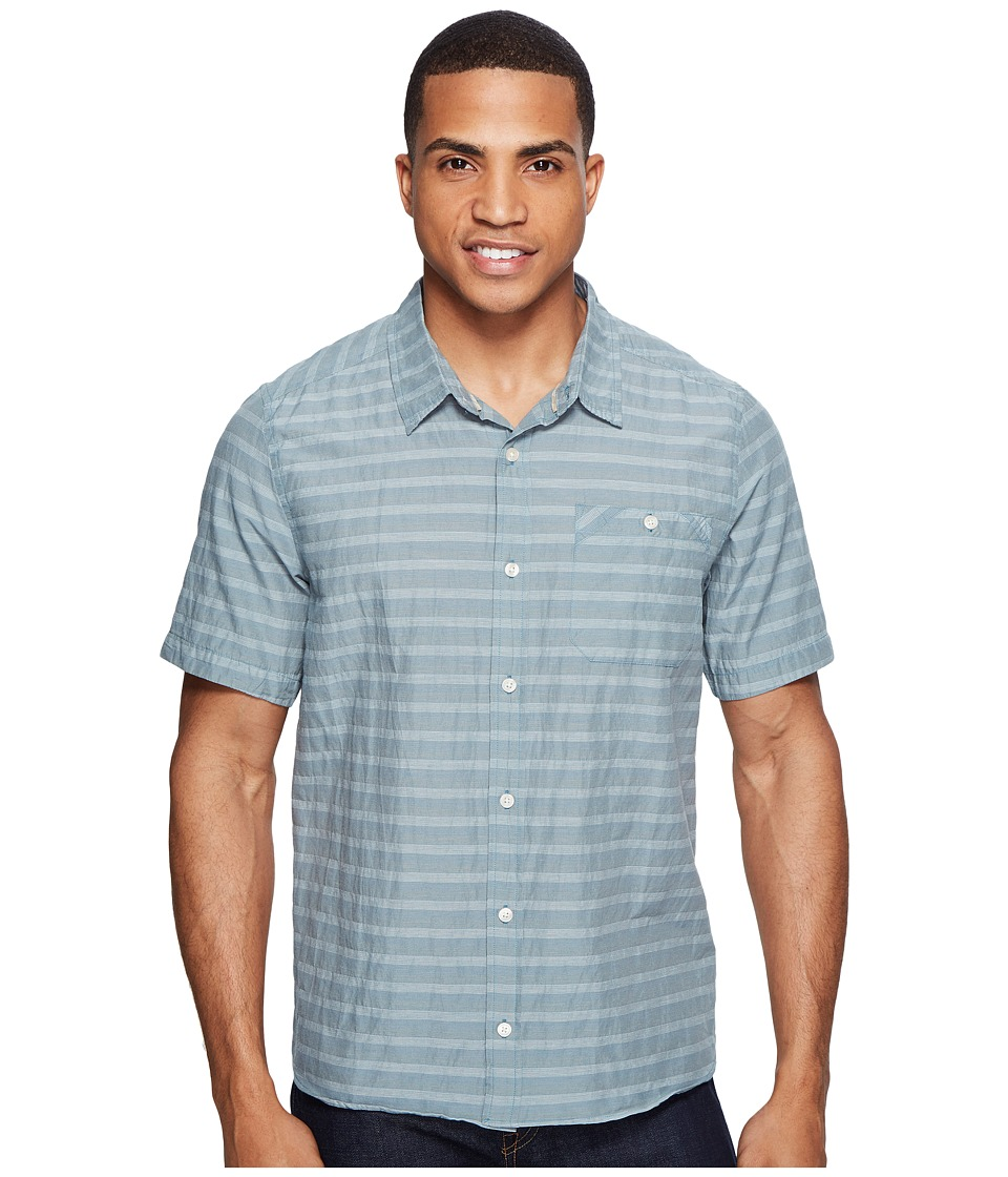 Toad&Co - Wonderer S/S Shirt (Hydro) Men's Short Sleeve Button Up