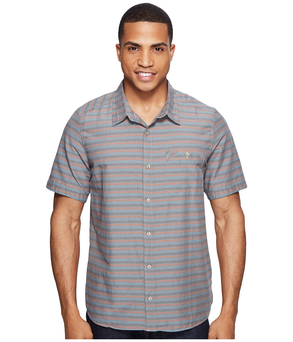 Toad&Co - Wonderer S/S Shirt (Red Clay) Men's Short Sleeve Button Up