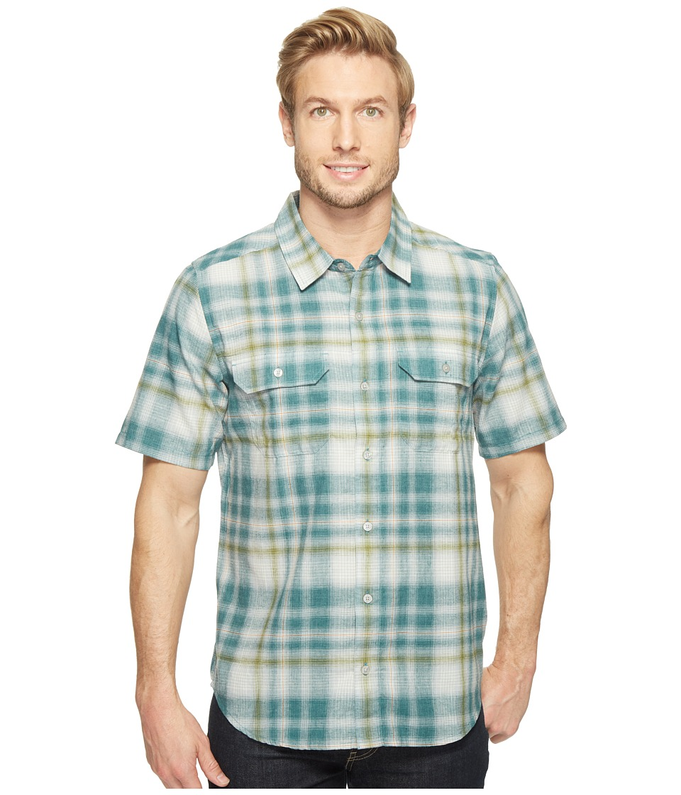 Toad&Co - Hookline Short Sleeve Shirt (Hydro) Men's Clothing