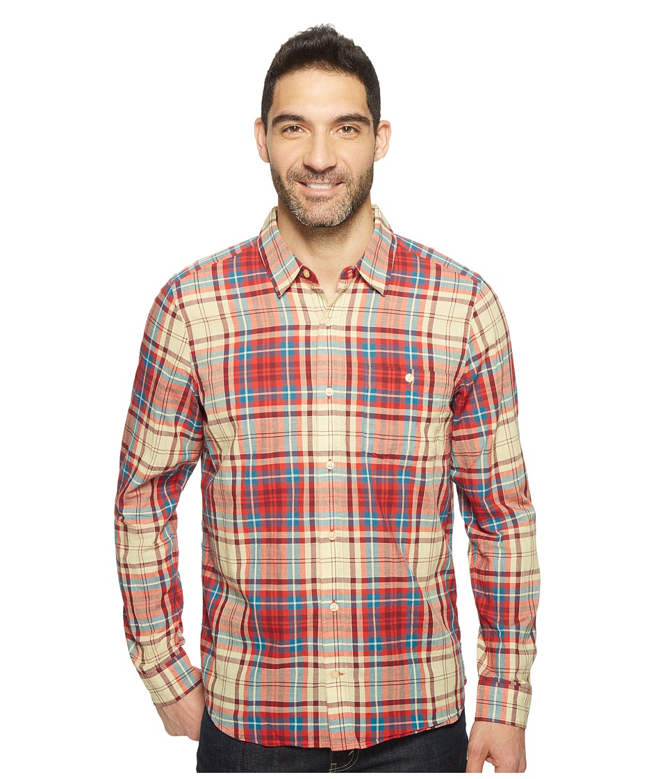 Toad&Co - Cuba Libre L/S Shirt (Frigate Red) Men's Long Sleeve Button Up