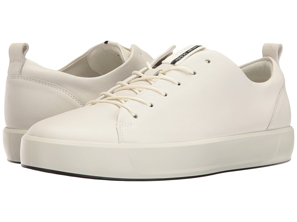 ECCO - Soft 8 Tie (White) Men's Lace up casual Shoes