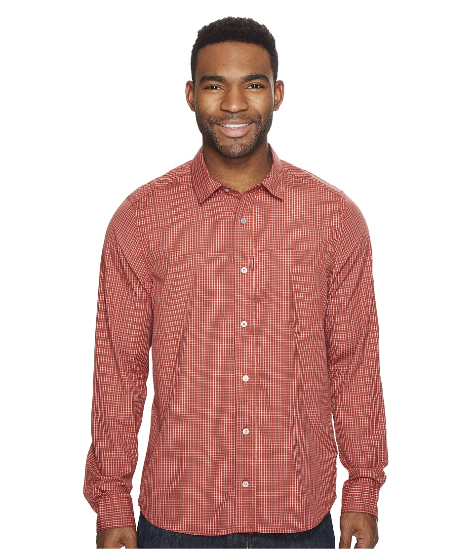 Toad&Co - Debug Quick-Dry Long Sleeve Shirt (Red Clay) Men's Clothing