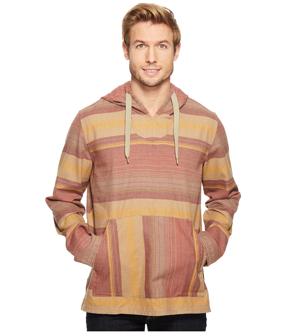Toad&Co - Loreto Hoodie (Red Clay Stripe) Men's Sweatshirt