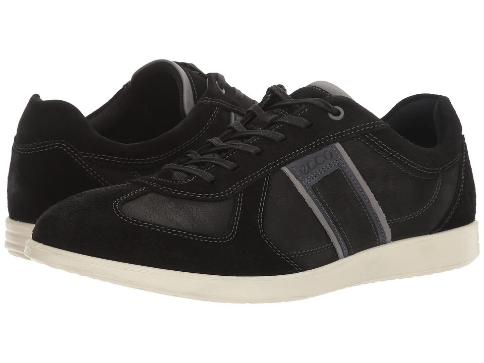 ECCO - Indianapolis Sneaker (Black/Black) Men's Lace up casual Shoes
