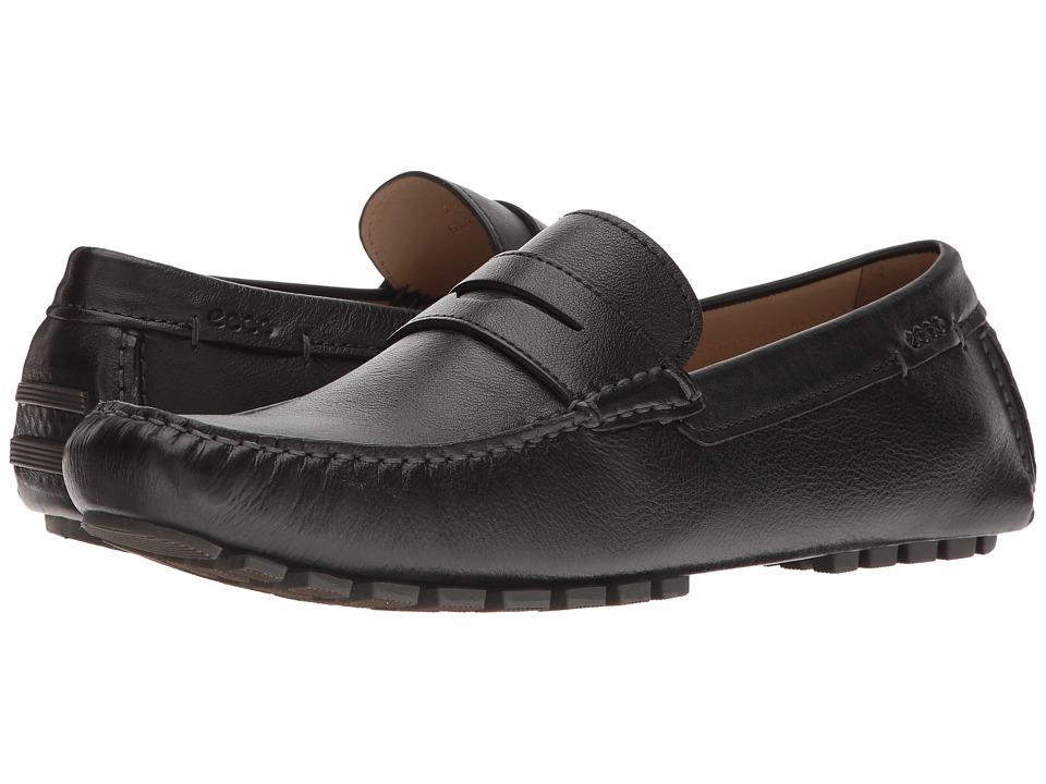 ECCO - Dynamic Moc 2.0 (Black) Men's Moccasin Shoes