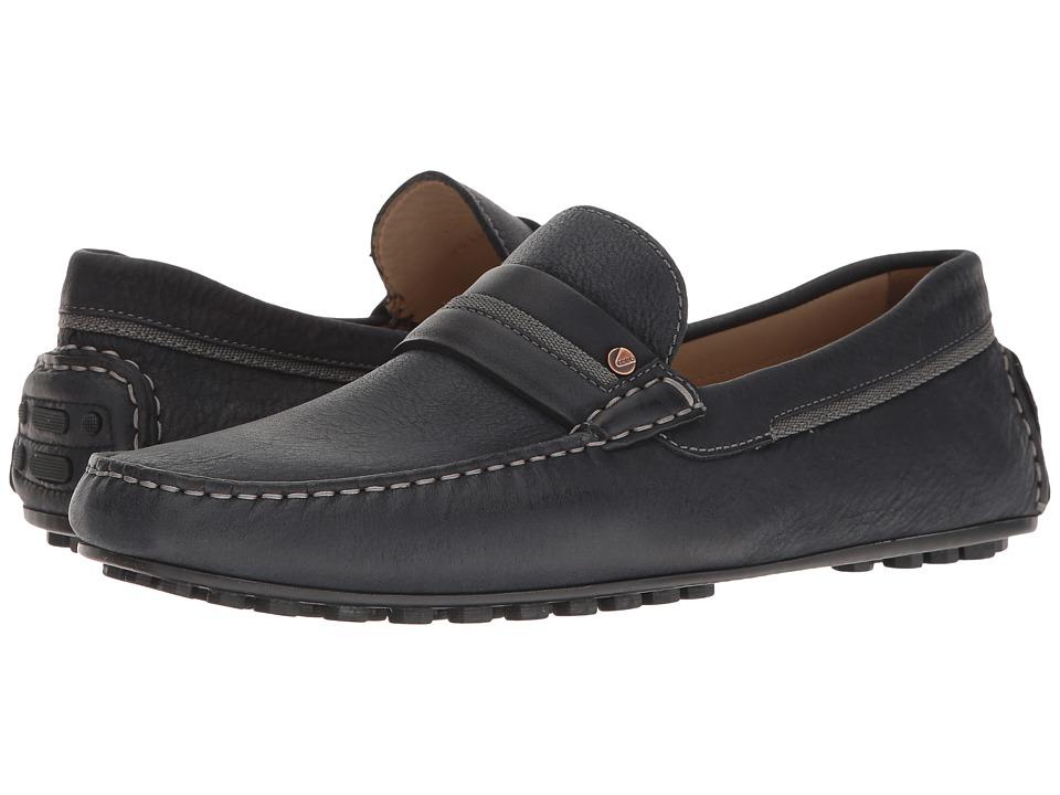 ECCO - Hybrid Casual Penny (Marine/Marine) Men's Slip-on Dress Shoes