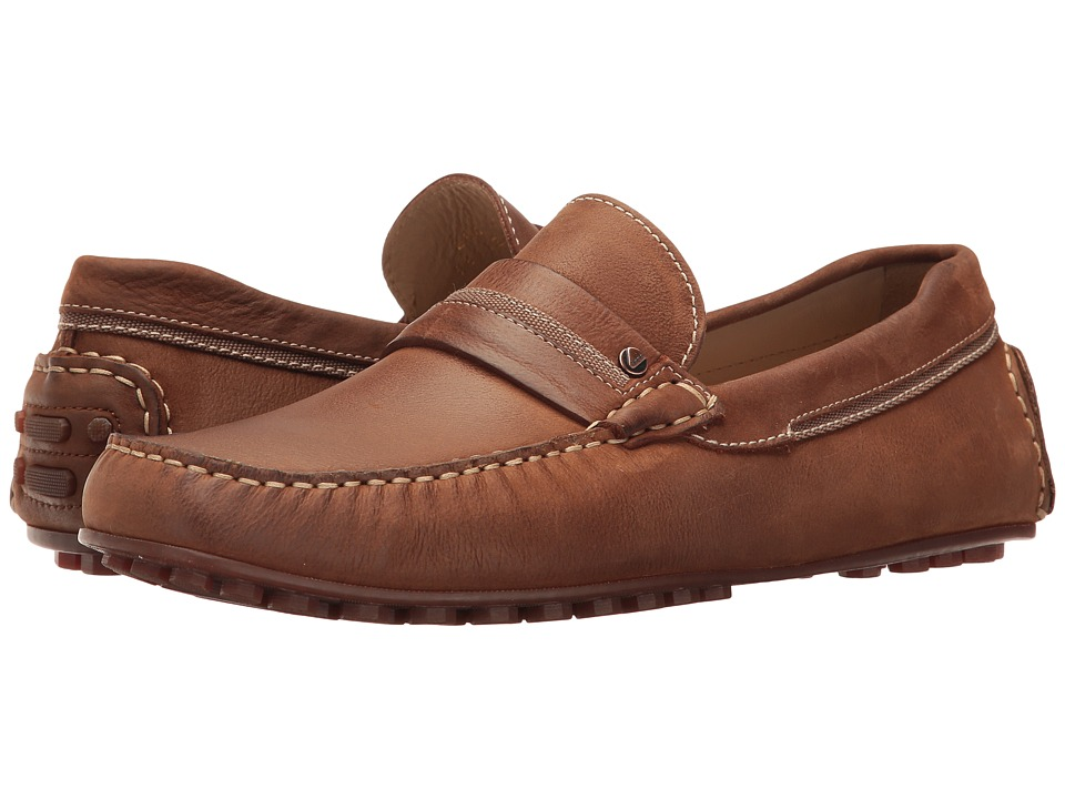 ECCO - Hybrid Casual Penny (Mahogany/Mahogany) Men's Slip-on Dress Shoes