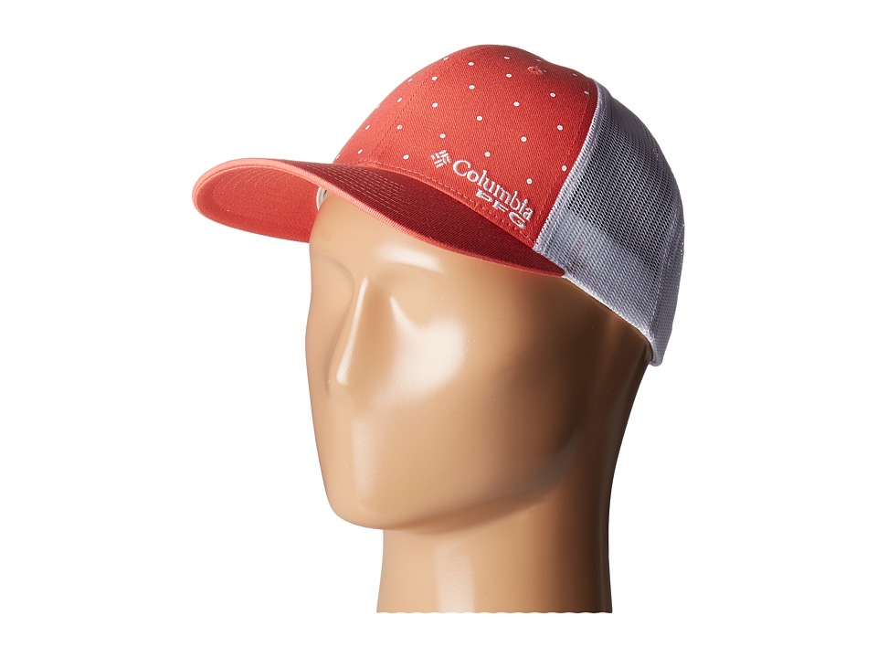 Columbia - PFG Mesh Ballcap (Melonade Printed Polka Dot) Baseball Caps