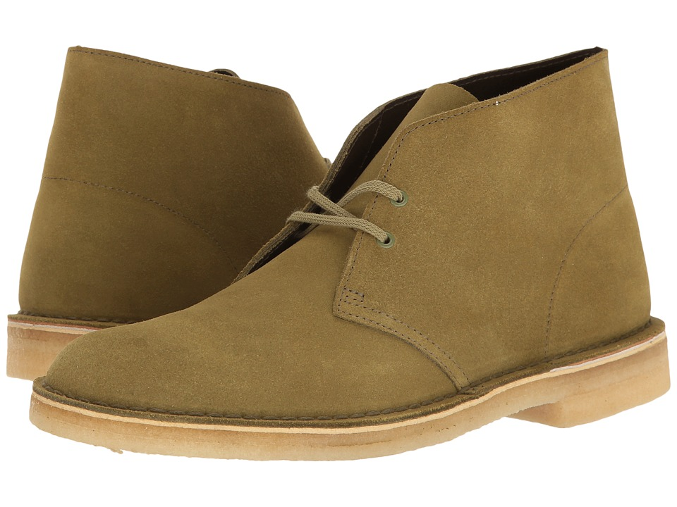 Clarks - Desert Boot (Forest Green Suede) Men's Lace-up Boots