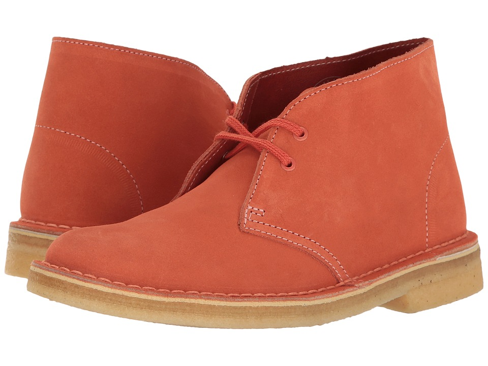 Clarks - Desert Boot (Light Coral Nubuck) Women's Lace-up Boots