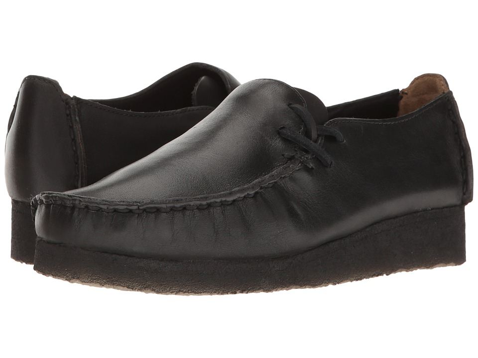 Clarks - Lugger (Black Smooth Leather) Women's Slip on Shoes