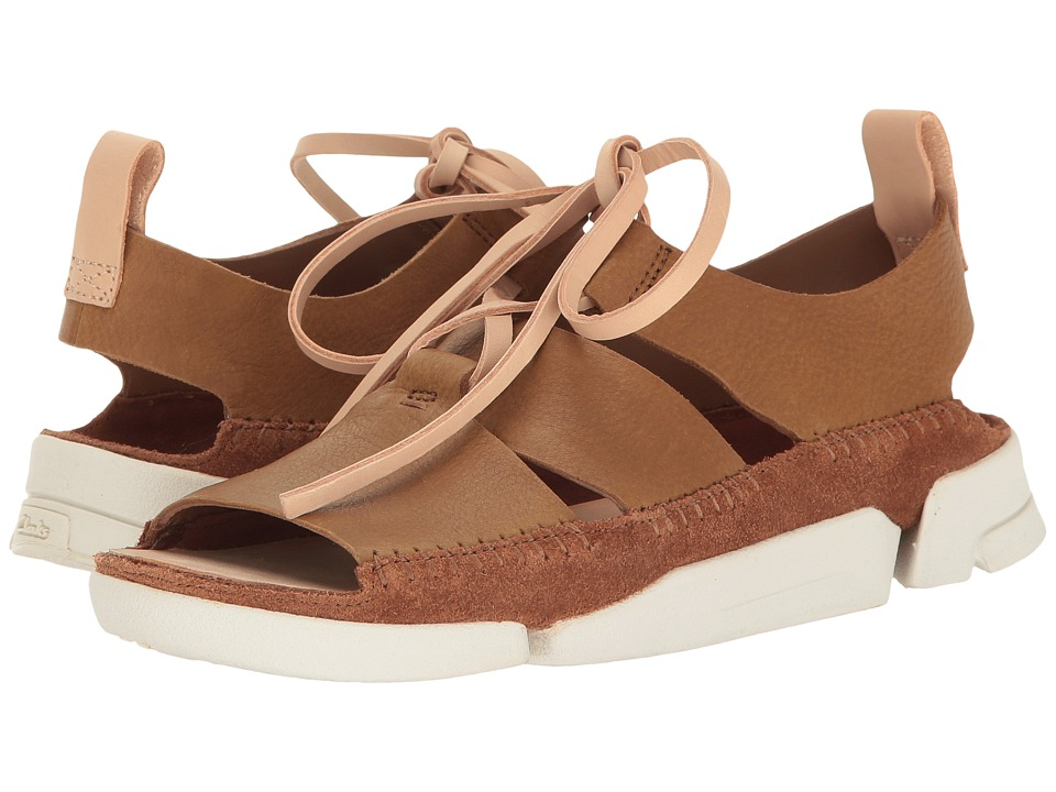 Clarks - Trigenic Honey (Cola Nubuck) Women's Sandals
