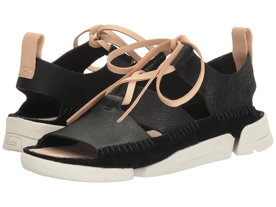 Clarks - Trigenic Honey (Black Nubuck) Women's Sandals