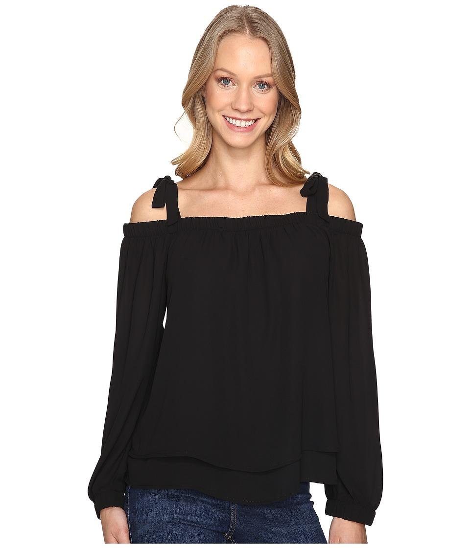 B Collection by Bobeau - Merritt Off Shoulder Top (Black) Women's Clothing