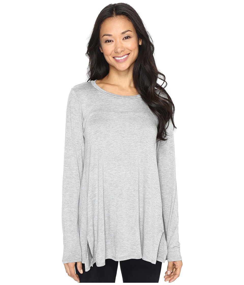 B Collection by Bobeau - Jade High-Low Hem Top (Heather Grey) Women's Long Sleeve Pullover