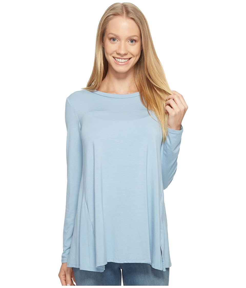 B Collection by Bobeau - Jade High-Low Hem Top (Light Blue) Women's Long Sleeve Pullover