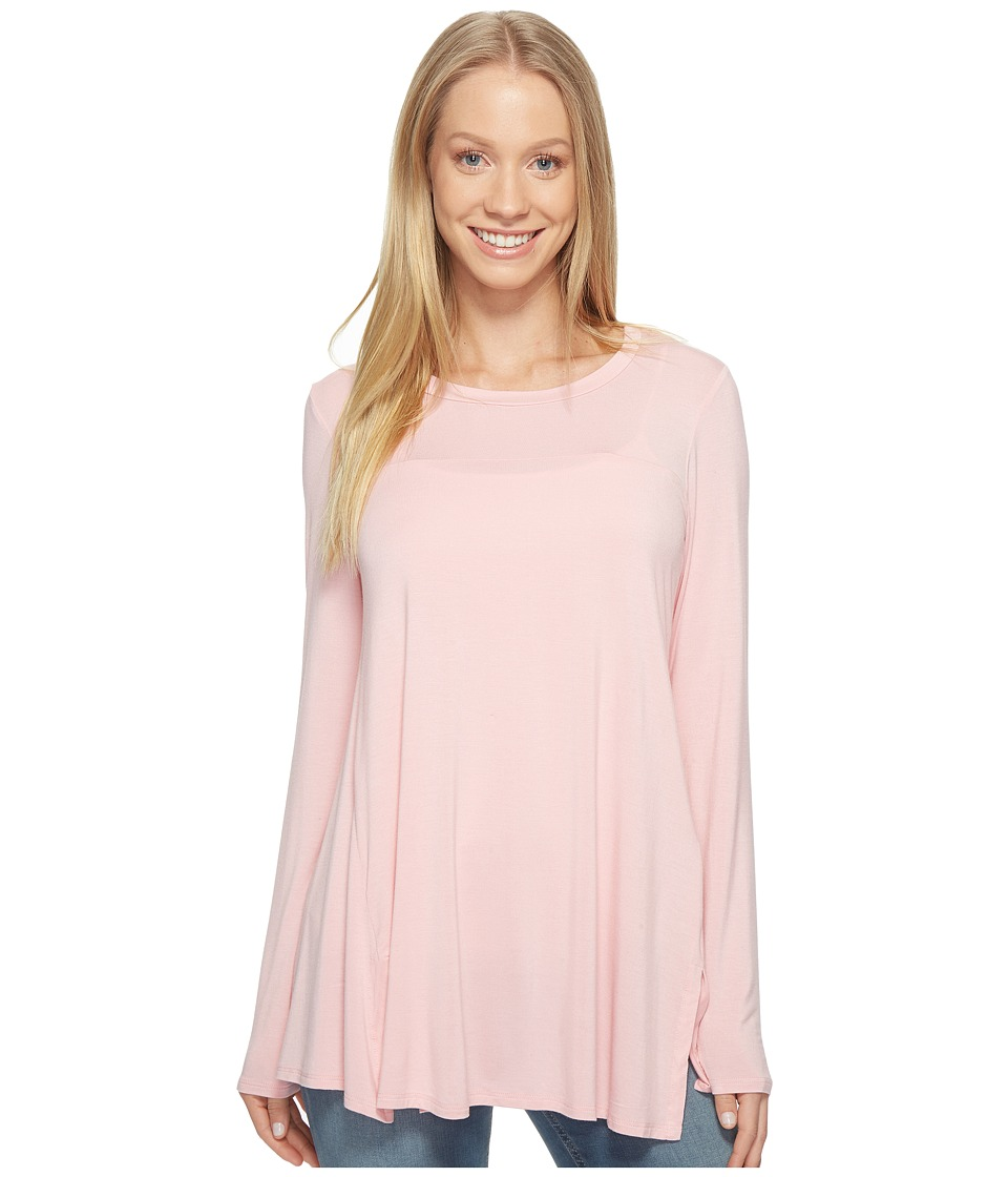 B Collection by Bobeau - Jade High-Low Hem Top (Light Pink) Women's Long Sleeve Pullover