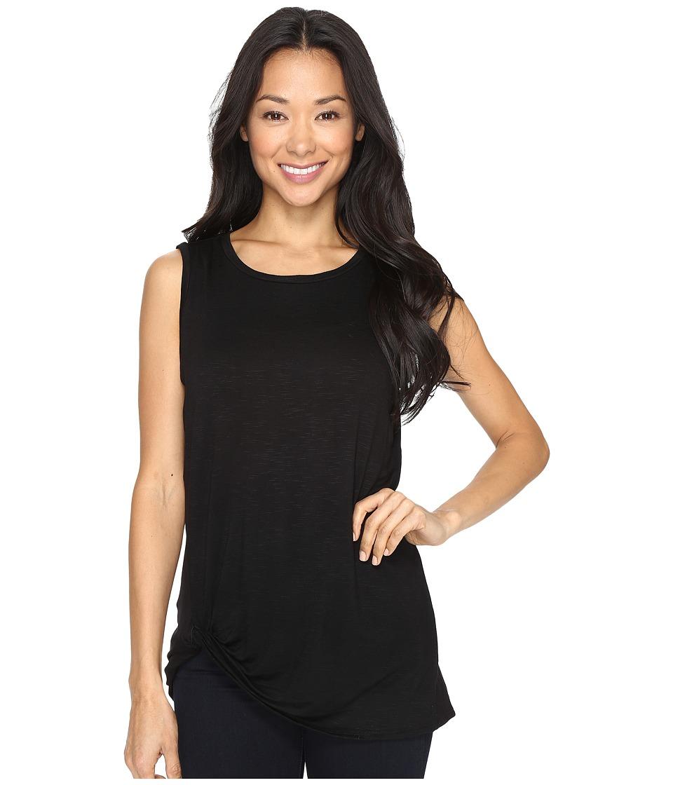 B Collection by Bobeau - Side Knot Tank Top (Black) Women's T Shirt