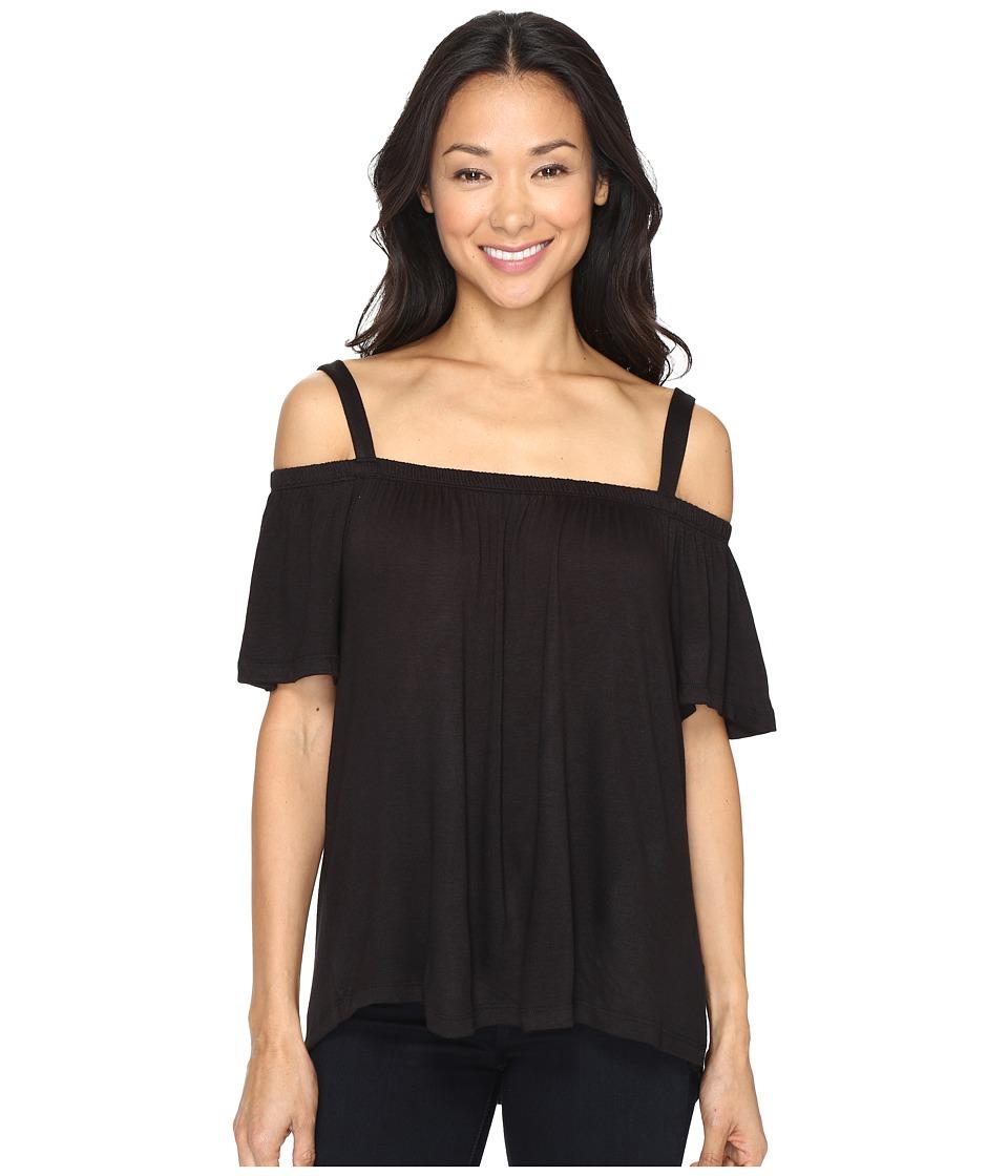 B Collection by Bobeau - Sunset Off Shoulder Tee Shirt (Black) Women's T Shirt