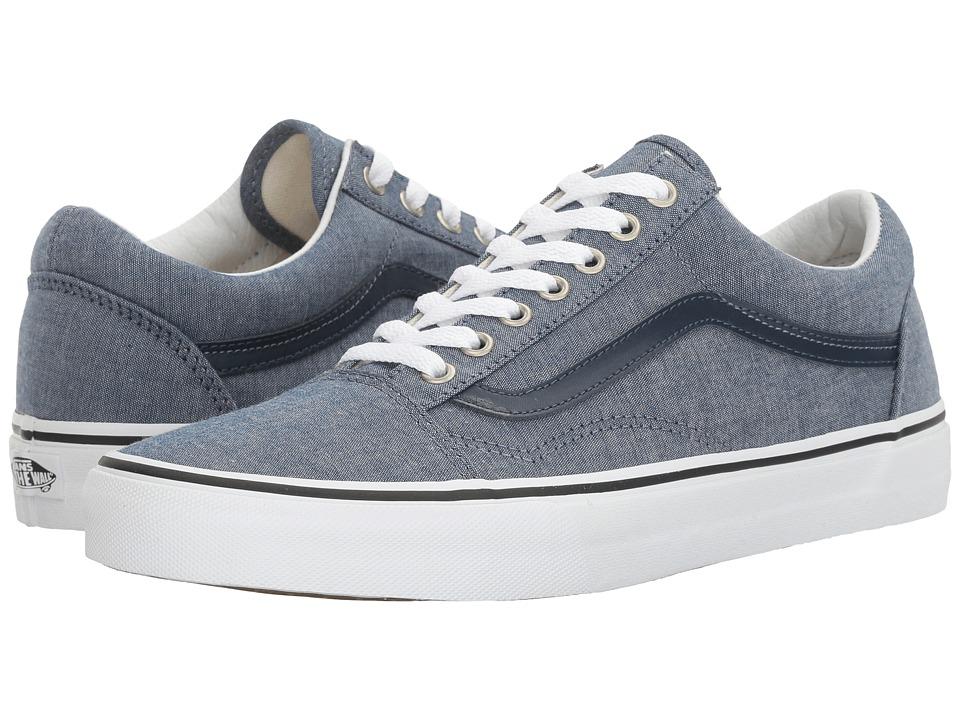 Vans - Old Skooltm ((C&L) Chambray/Blue) Skate Shoes