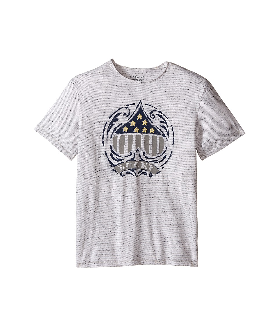 Lucky Brand Kids - Slub Jersey Tee w/ Spade Star Embroidered Screen Print (Big Kids) (White) Boy's T Shirt
