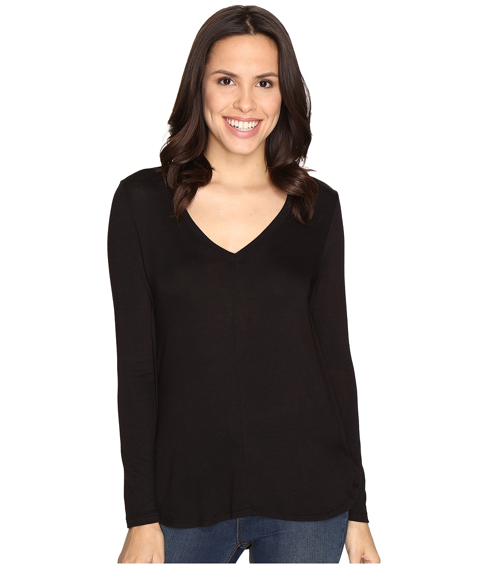 B Collection by Bobeau - Alice Long Sleeve Tee (Black) Women's T Shirt