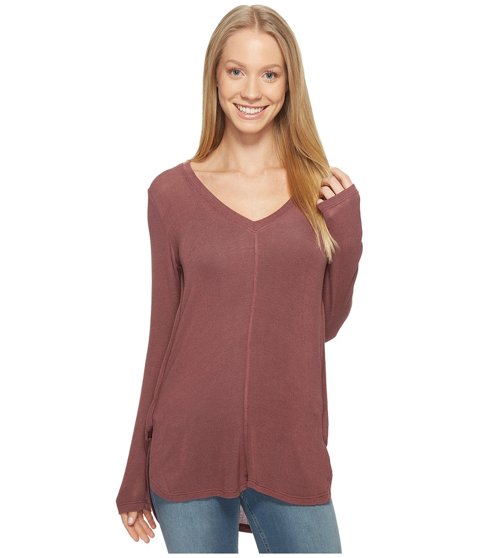 B Collection by Bobeau - Alice Long Sleeve Tee (Deep Mauve) Women's T Shirt
