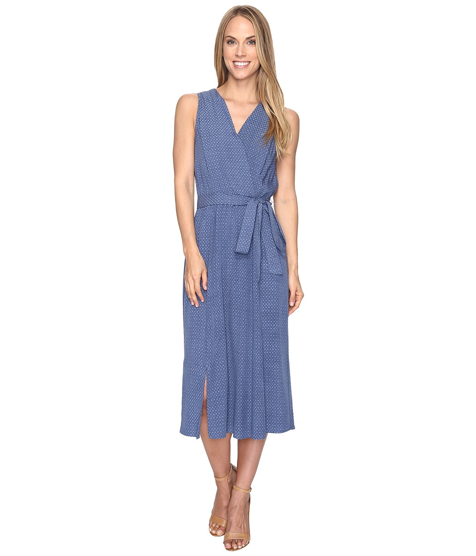 B Collection by Bobeau - Kate Chambray Wrap Dress (Dark Blue) Women's Dress