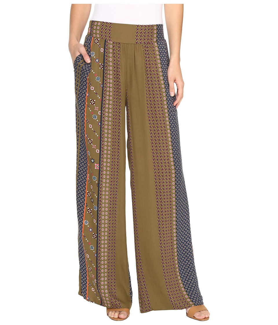 B Collection by Bobeau - Arden Palazzo Pants (Blue Print) Women's Casual Pants