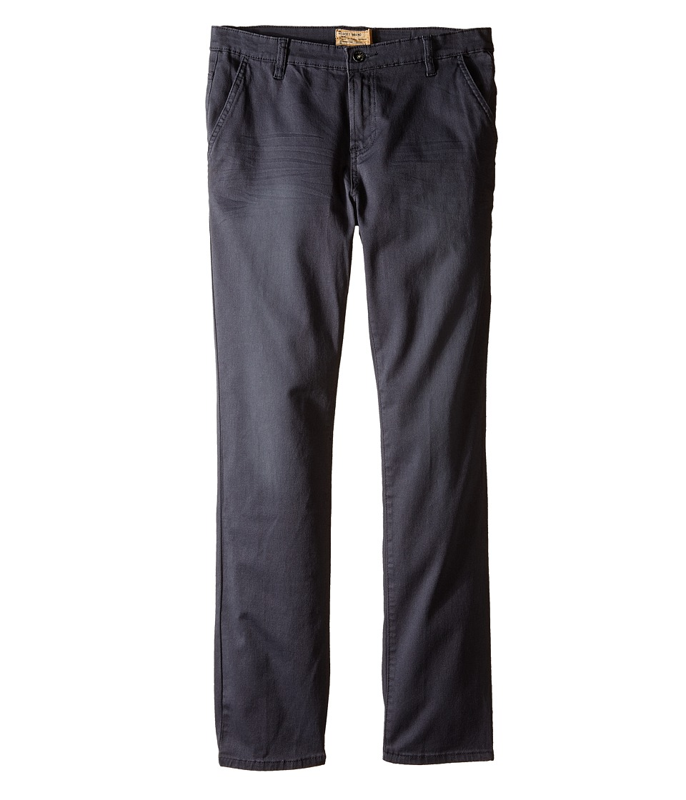 Lucky Brand Kids - Slim Fit Twill Pants w/ Slash Front Pockets (Big Kids) (Nine Iron) Boy's Casual Pants