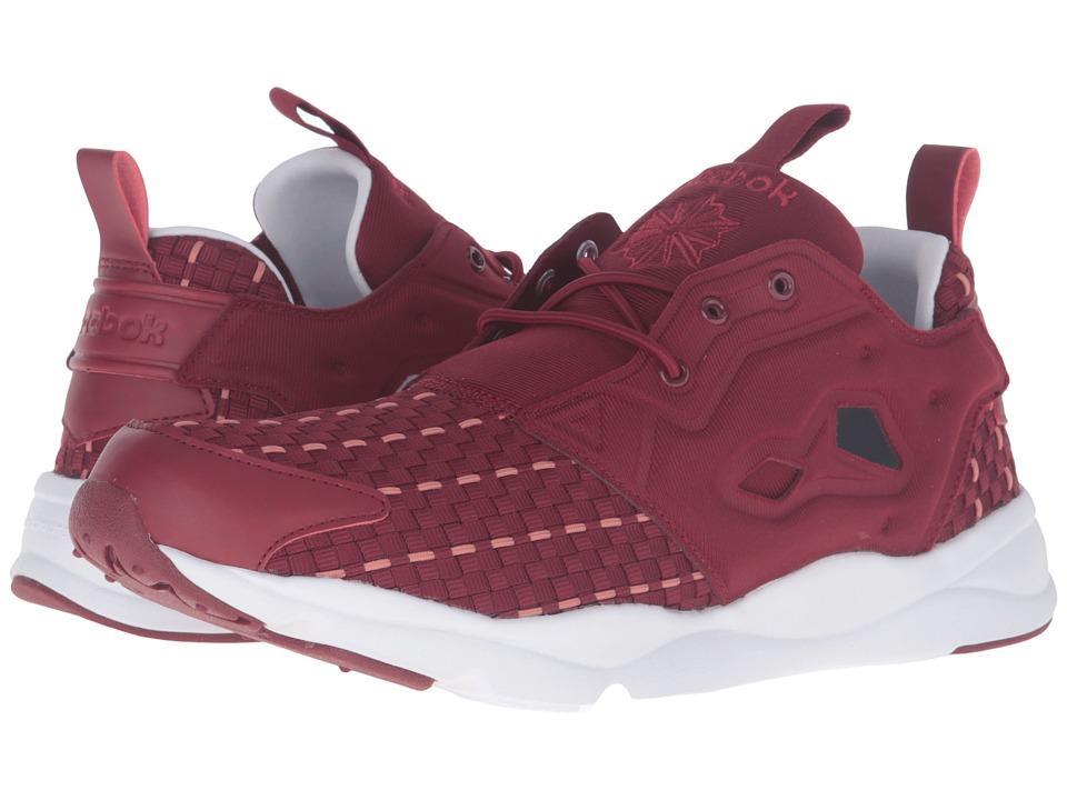 Reebok - Furylite New Woven (Collegiate Burgundy/White) Men's Shoes