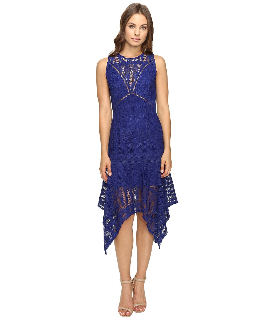 Adelyn Rae - Sleeveless Lace Midi Dress (Navy) Women's Dress