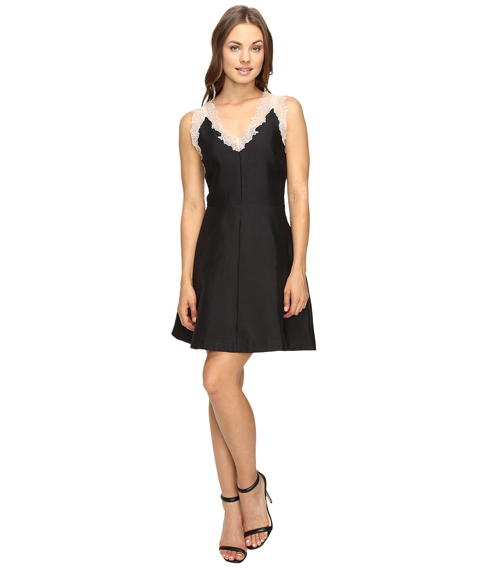 Adelyn Rae Fit and Flare with Lace Details (Black) Women