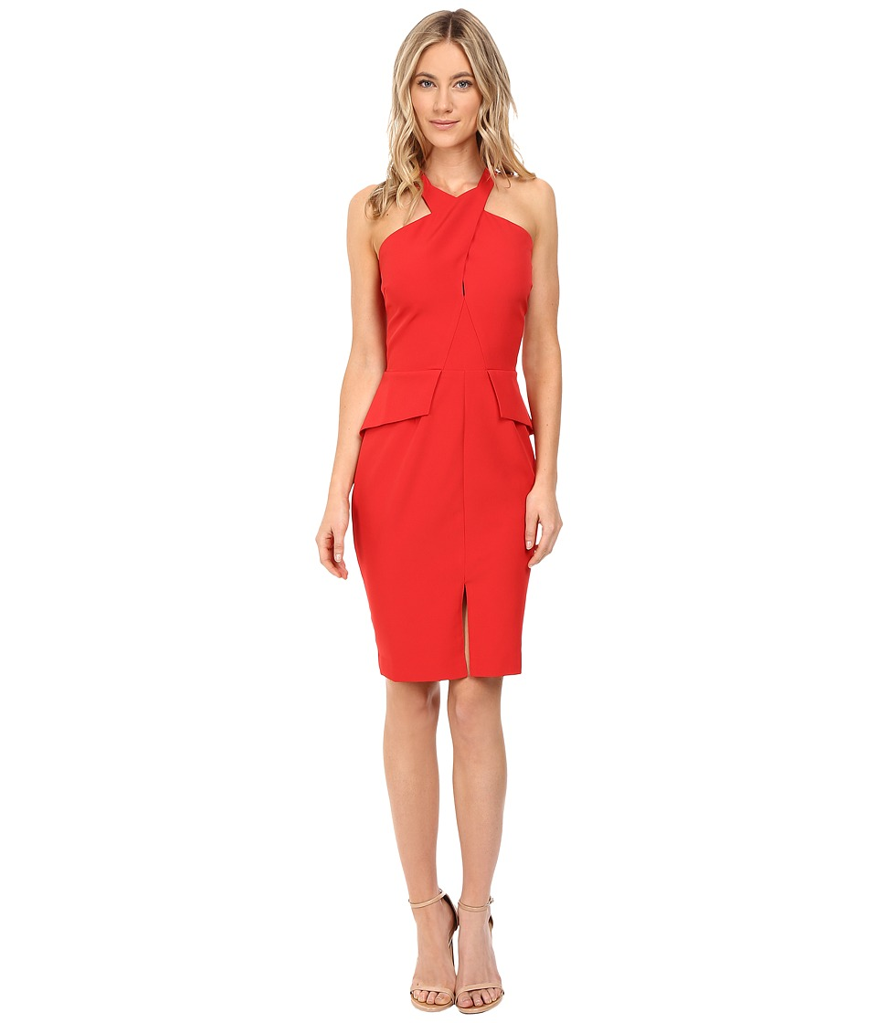 Adelyn Rae - Halter Fitted Dress (Red) Women's Dress