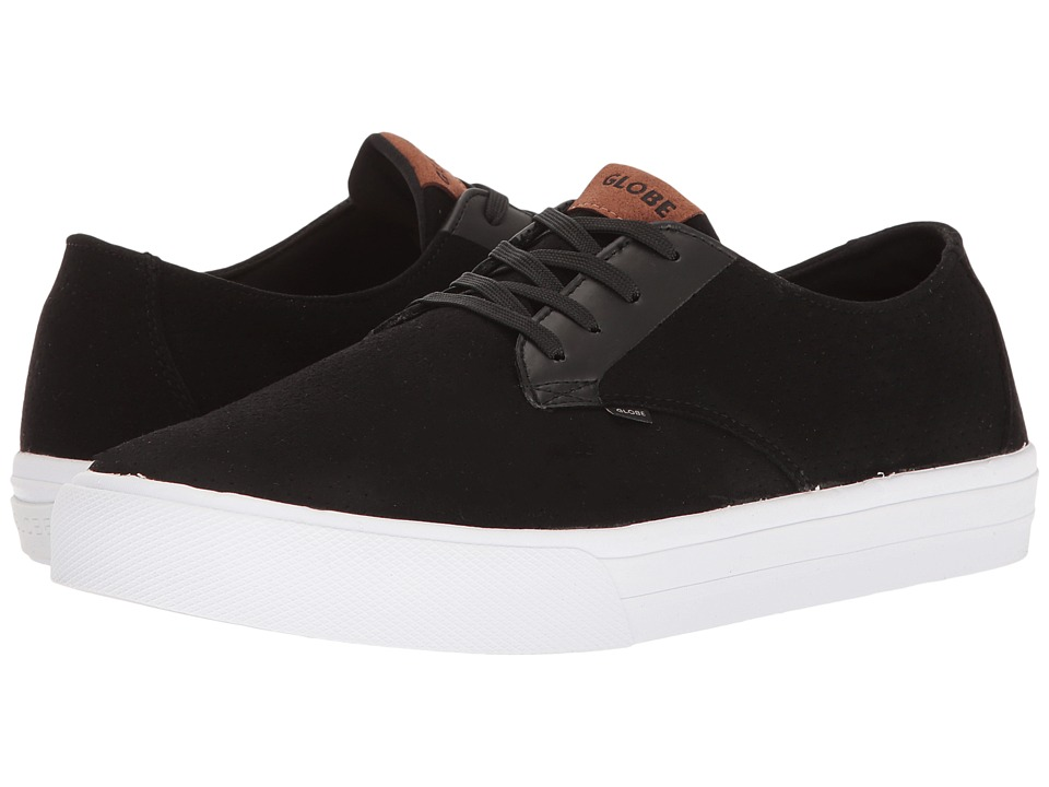 Globe - Motley Lyte (Perf Black/White Microfibre) Men's Skate Shoes