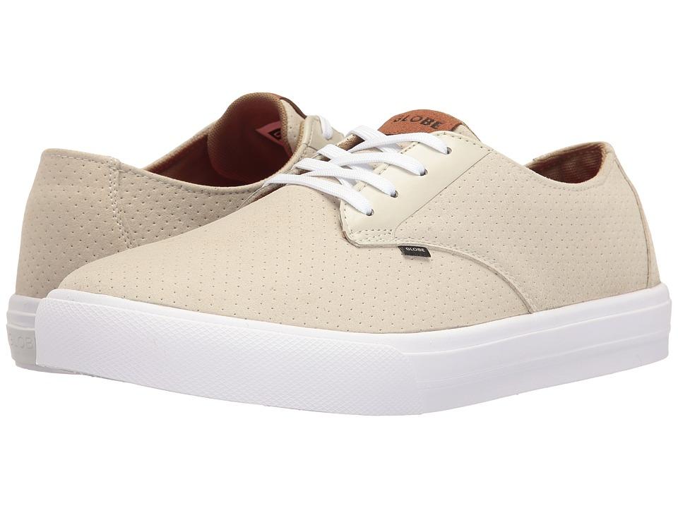 Globe - Motley Lyte (Perf Sand/White Microfibre) Men's Skate Shoes