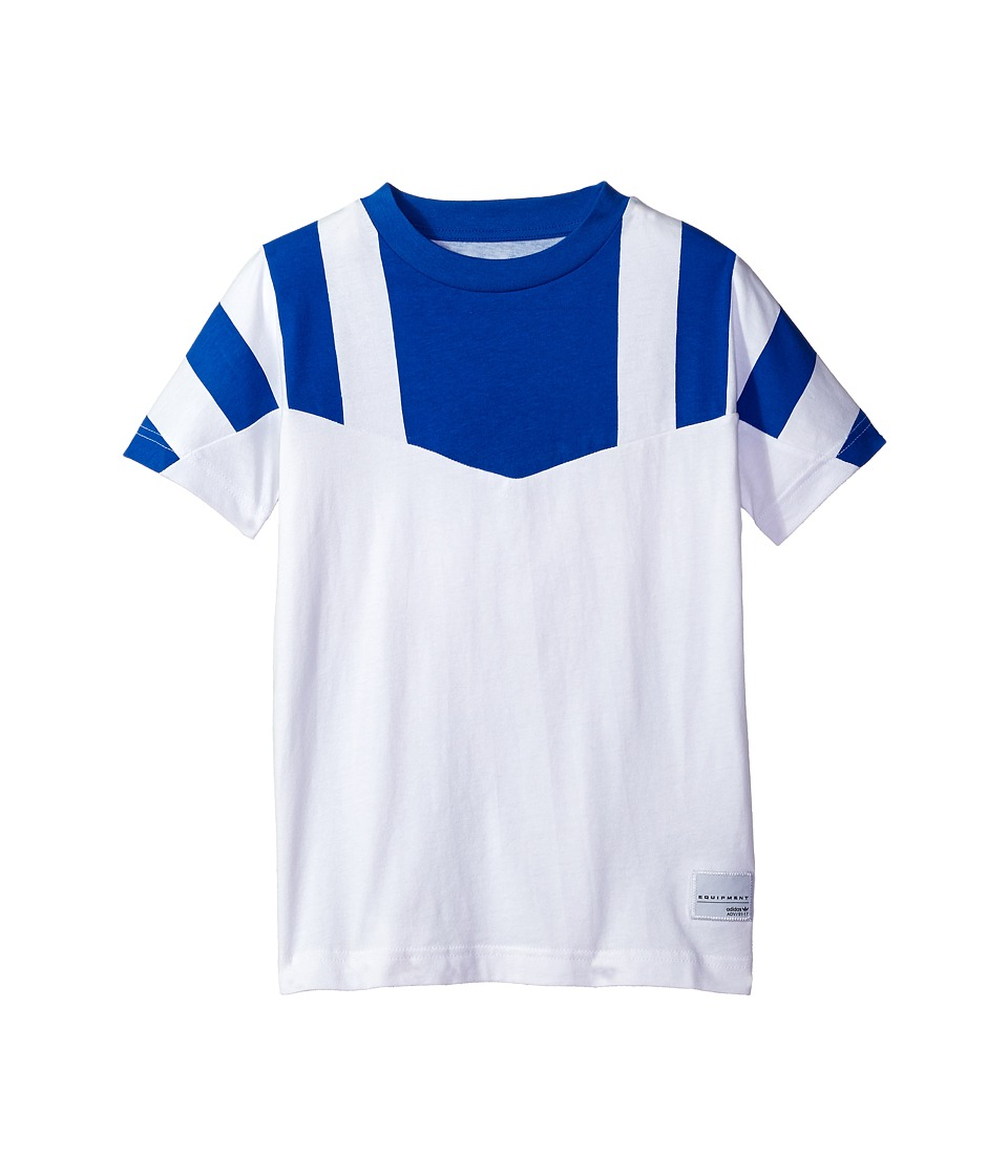 adidas Originals Kids - Equipment Cl Tee (Toddler/Little Kids/Big Kids) (White/Blue) Boy's T Shirt