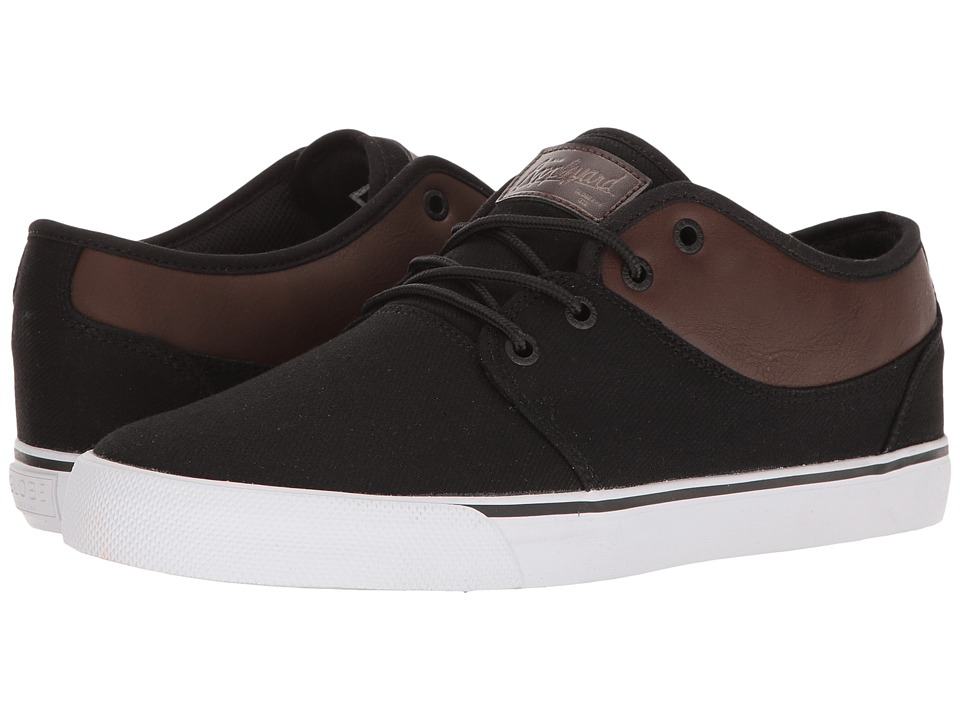Globe - Mahalo (Black Twill/Brown) Men's Skate Shoes