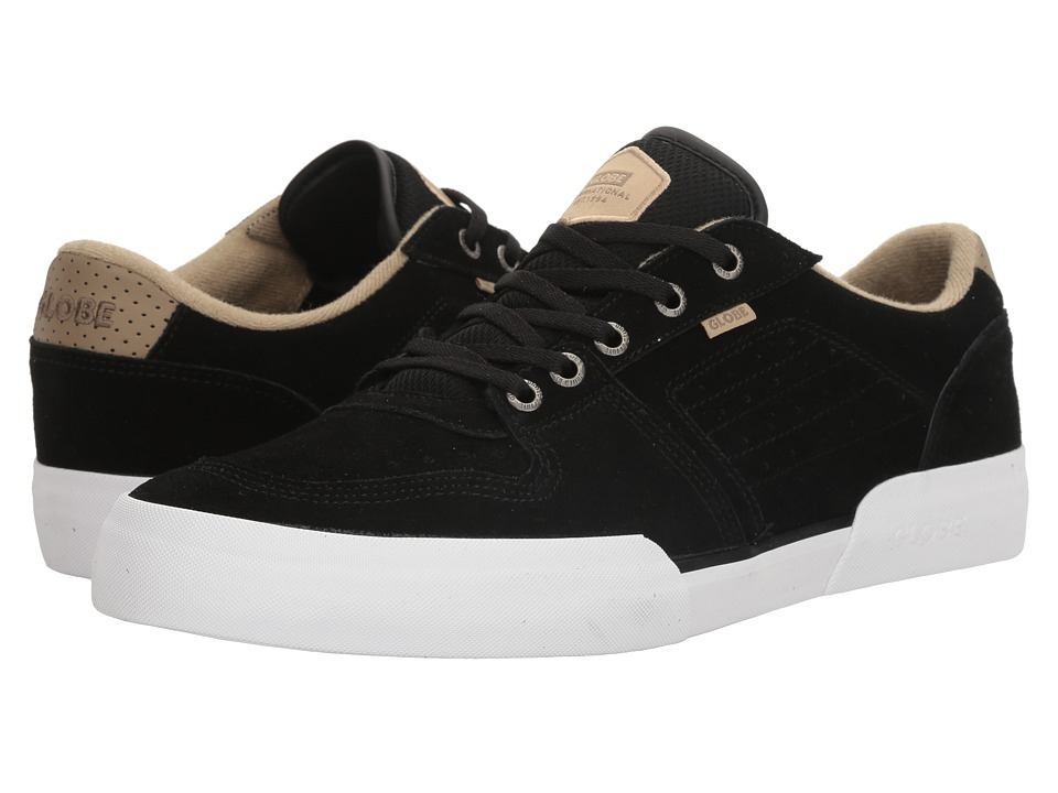 Globe - Mojo Legacy (Black/Tan Shaved Suede) Men's Lace up casual Shoes