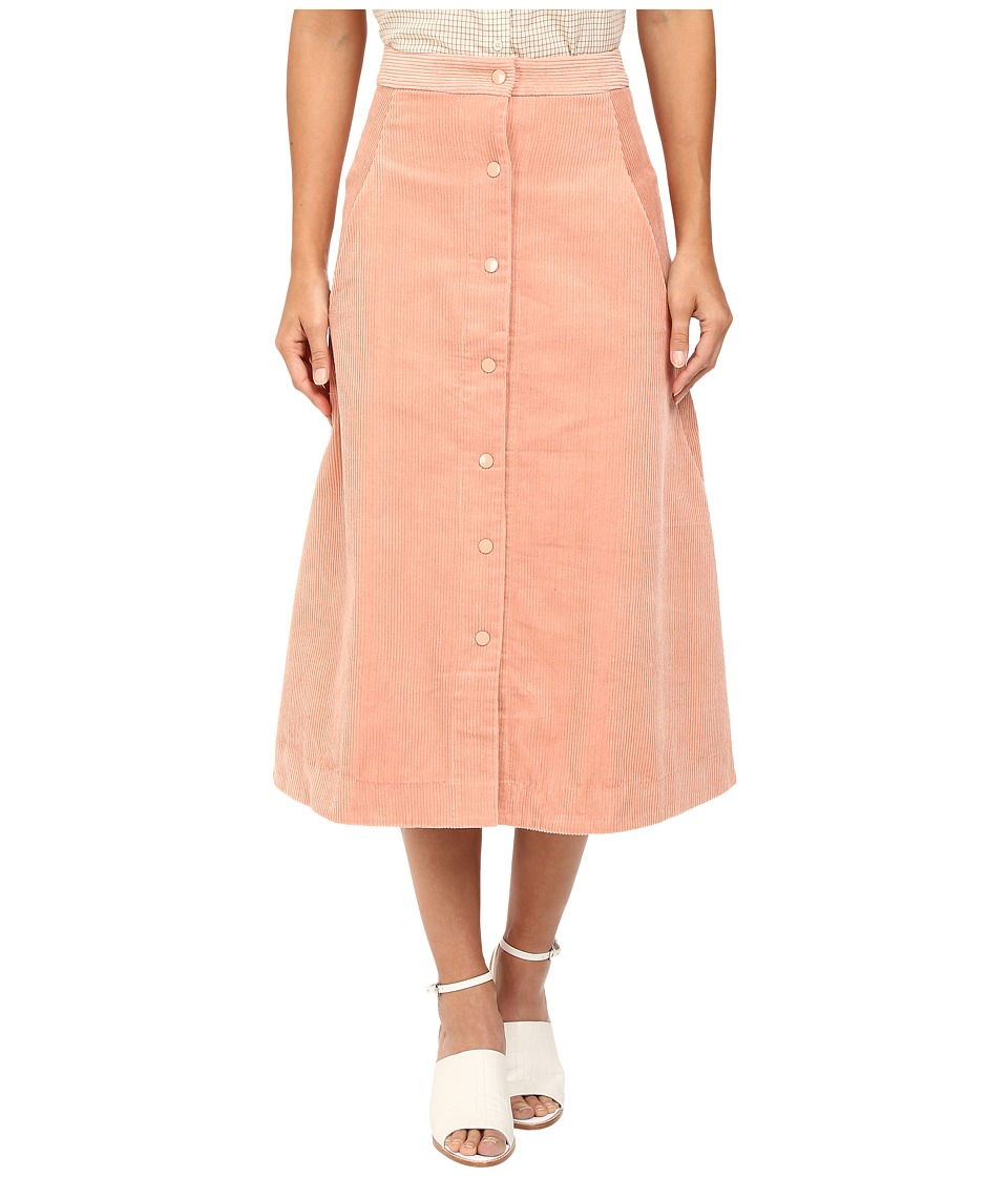 Rachel Antonoff - Mikey Midi Skirt (Blush) Women's Skirt